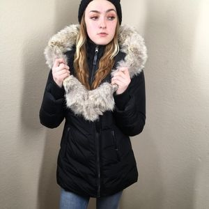 Mackage Coyote Fur and Down Hooded Puffer Coat